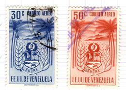 YV+ Venezuela 1952 Mi 815-16 Miranda - Venezuela