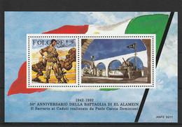 Francobolli - Erinnofili -  Folgore 1942-1992 50° Anniv. Battaglia Di El Alamein - - Erinnofilie