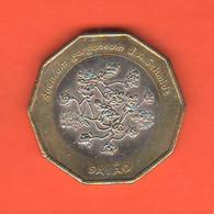 Capo Verde 100 Escudos 1994 Cap Vert Bimetallik Flowers Typological Coin - Cape Verde