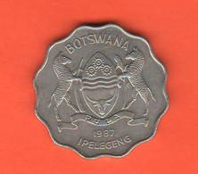 Botswana 1 Pula 1987 Nikel Coin Zebra Animals - Botswana