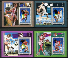 Central African Republic, 1988, Olympic Summer Games Seoul, Soccer, Judo, Tennis, Space, MNH, Michel Block 443-446A - República Centroafricana