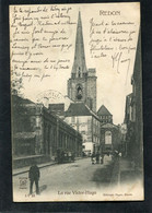 CPA - REDON - La Rue Victor Hugo, Animé  (dos Non Divisé) - Redon
