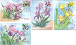 Russia Russland 2021 Mih 2965-2968 RU 2741-2744 Flowers Irises Red Data Book Flora - Tarjetas Máxima