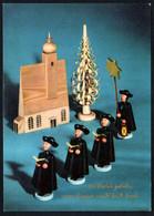 E9436 - TOP Glückwunschkarte Weihnachten - Kurrende Erzgebirgische Volkskunst - Verlag Max Müller Karl Marx Stadt DDR - Non Classés