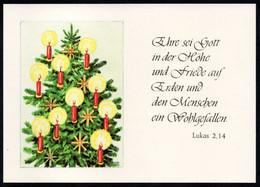 E9439 - TOP Glückwunschkarte Weihnachten - Tannebaum - Verlag Schäfer DDR - Non Classés