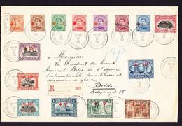 1918 R-Brief Aus Baarle-Hertog. Serie Mit Rot Kreuz Aufdruck Mit Zusätzlicher 15 C Marke. Nach Breda. Président Du - 1918 Red Cross