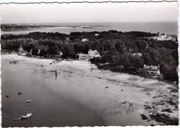 29-LE CABELLOU-APRES-CONCARNEAU LA PLAGE-LA FRANCE VUE DU CIEL-ANIMEE-BARQUE BATEAU A VOILES -CPSM - Autres Communes