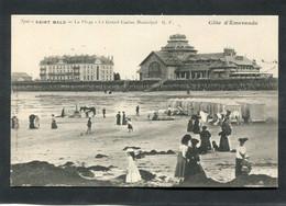CPA - SAINT MALO - La Plage - Le Grand Casino Municipal, Animé - Saint Malo