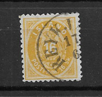 1873 USED Iceland  Mi 5-B (thin Spot) - Used Stamps