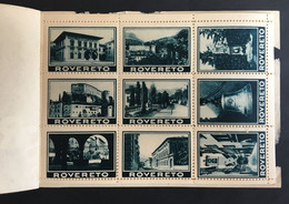 Rovereto Erinnofilia Lotto Di 18 Chiudilettera Su Foglio Vedute Panoramiche Della Città  V350 - Other