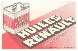 Buvard Huiles Renault Aviation, Bidon , Issy Les Moulineaux - Automotive