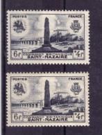 VARIETE DE COULEUR N° 786 (bleu Noir Foncé Sur Fond Blanc Et Bleu Noir Clair Sur Fond Jaunatre ) NEUF** - Curiosités: 1945-49 Neufs