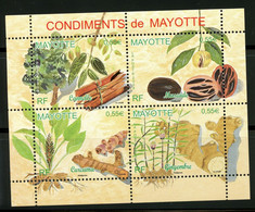Mayotte - 2008 - Condiments De Mayotte - NEUF SANS TC - Bloc Nos 210-211-212-213 - Cote 9,20 Euros - Ongebruikt