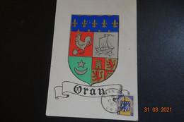 Carte Maxi Blason D'ORAN1950 - Maximumkarten