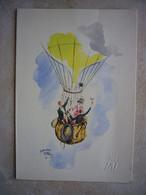 Avion / Airplane / TAI / Menu / Première Classe & Classe Touriste / Dessin D'Edouard Collin 1957 - Menu