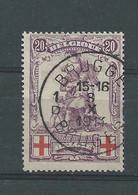 """N°128 OBLITERE""""BRUGGE"""" - 1914-1915 Red Cross"""
