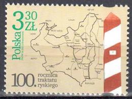 Poland 2021 - Treaty Of Riga - MNH(**) - Blocks & Sheetlets & Panes