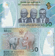 NAMIBIA 30 Dollars 2020 P NEW COMMEMORATIVE  Polymer UNC - Namibia