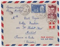 Liaison Aérienne Paris - Montréal Cachet Paris XII Rue Crozatier 2 Octobre 1950 - 1927-1959 Used