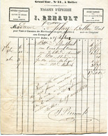 Bolbec(76): Facture épicerie Renault. 1862 - 1800 – 1899