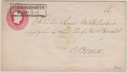 Preussen - 1 Sgr. Fr. Wilhelm IV. Ganzsache Brief Ra2 Flammersheim - Bonn - Prusse