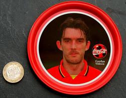 Ancien Sous-bock Métal Coupelle COCA COLA Football Belgique Gordan VIDOVIC - Altri