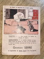1 PROTEGE CAHIER GEORGES SERRE LE CHAT LA BELETTE ET LE PETIT LAPIN - Other