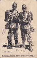 AK Deutschland U. Österreich - Soldaten - Patriotika - Künstlerkarte Anton Hoffmann, München - Feldpost 1917 (55245) - Weltkrieg 1914-18