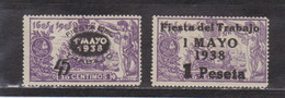 1938 Edifil 761-762 Fiesta Del Trabajo - 1931-50 Nuovi