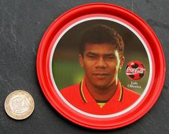 Ancien Sous-bock Métal Coupelle COCA COLA Football Belgique Luis OLIVEIRA - Altri