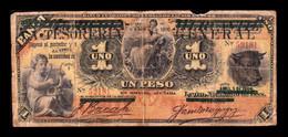 Nicaragua 1 Peso 1896 Pick A14c BC- G - Nicaragua