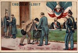 CHROMO CHOCOLAT LOUIT LE TIRAGE AU SORT - Louit