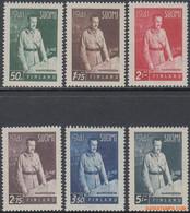 Finland 1941 - Mi:248/253, Yv:234/239, Stamp - XX - Freedom Struggle Carl Gustaf Von Mannerheim - Neufs