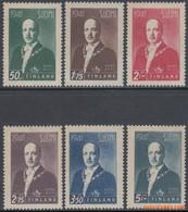 Finland 1941 - Mi:242/247, Yv:240/245, Stamp - XX - Freedom Struggle Risto Heikki Ryti - Neufs
