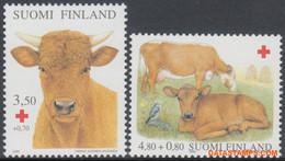 Finland 2000 - Mi:1529/1530, Yv:1491/1492, Stamp - XX - Red Cross Cattle - Nuevos