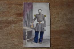 Cdv Second Empire Rare Artilleur De Marine Shako , Boucle A L'ancre De Marine, Colonisée Par Legendre Photographe Brest - War, Military