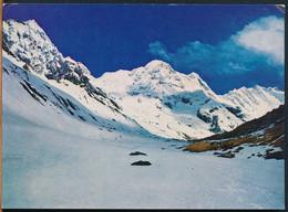 °°° 26028 - NEPAL - KARNA SAKYA - MT. ANNAPURNA SOUTH AND SANCTUARY COURTESY - 1978 With Stamps °°° - Népal