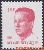 België 1986 - Mi:2255, OBP:2203P5b, Stamp - XX - King Baudouin Velghe - 1981-1990 Velghe