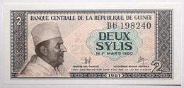 Guinée - 2 Sylis - 1981 - PICK 21a - NEUF - Guinea