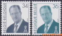 België 1997 - Mi:2737/2738, Yv:2685/2686, OBP:2690/2691, Stamp - XX - King Albert II With Glasses - Ongebruikt