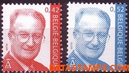 België 2002 - Mi:3100/3101, Yv:3045/3046, OBP:3050/3051, Stamp - XX - King Albert II Mvtm Euros - 1993-.. MVTM
