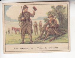 < Chromo Chocolat Cacao Des Colonies .. Bon Point .. Militaire En Manoeuvre - Andere