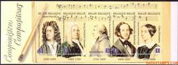 België 2009 - Mi:MH 46, Yv:C 3880, OBP:B 102, Booklet - XX - Masters Of Music - Booklets 1953-....