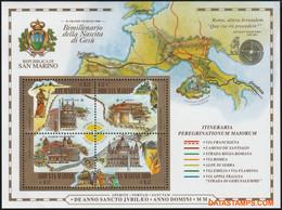 San Marino 2000 - Mi:BL 27, Yv:BL 28, Block - XX - Holy Year 2000 - Blocchi & Foglietti