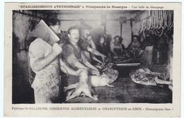 Villefranche De Rouergue - Etablissements Aveyronnais - Une Salle De Découpage - Fabrique De Salaisons Etc - Villefranche De Rouergue