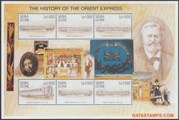Sierra Leone 2001 - Mi:KB 3815/3820, Yv:3193/3198, Stamp - XX - Orient-express - Sierra Leone (1961-...)