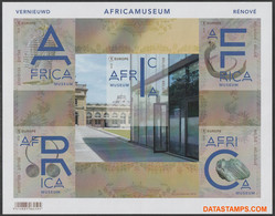 België 2018 - Mi:BL 225, Yv:F 4758, OBP:BL 264, Black And White Sheet - XX - Renewed Afrika Museum - Zwarte/witte Blaadjes