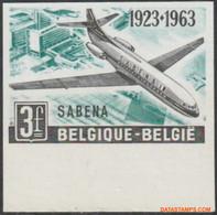 België 1963 - Mi:1319, Yv:1259, OBP:1259, Stamp - □ - Sabena - Ongetande
