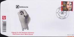 België 2010 - Mi:4037, Yv:3972, OBP:3991, Fdc - O - Give Life Organ Donation - 2001-10