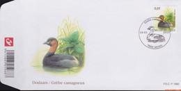 België 2010 - Mi:4039, Yv:3973, OBP:3993, Fdc - O - Birds Grebe - 2001-10
